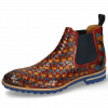Bottines Brad 6 Woven Multi Rubino Yellow Elastic Navy