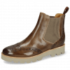 Bottines Selina 6 Chestnut Elastic Ribbed Beige
