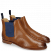 Bottines Susan 10A Perfo Tan Elastic Guglia Blue
