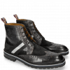 Bottines Eddy 26R Turtle Suede Pattini Black