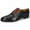 Derbies Bobby 1 Guana Navy Cognac Night Blue