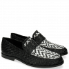 Mocassins Pit 10 Woven Black White