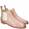 Bottines Susan 10  Rose Elastic Off White