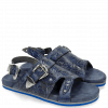 Mules Helen 2 Floral Print Moroccan Blue