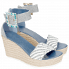Sandales Abby 2 Denim Light Blue Raffia White
