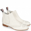 Bottines Sandy 4 Nappa Glove Perfo Cream Elastic Off White