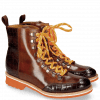 Bottines Amelie 71 Crock Mogano Wood Tongue Sherling Cognac