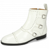 Bottines Susan 45 Soft Patent White Rivets