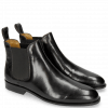 Bottines Susan 10 Black Elastic Black M&H Rubber Navy