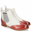 Bottines Selina 6 Ruby Nappa Perfo White