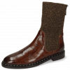 Bottines Susan 69 Turtle Dark Brown Textile Brina Mokka