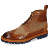 Bottines Matthew 9 Crock Cognac Suede Pattini Scotch Grain Sand