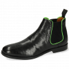 Bottines Amelie 4 Pavia Perfo Black Binding Fluo Green