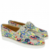Mocassins Ally 1 White Embrodery Flower
