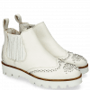 Bottines Sandy 4 Milled White Rivets Elastic Off White