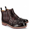 Bottines Eddy 20 Deep Pink Elastic Check Burgundy