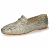 Mocassins Aviana 1 Woven Pewter Trim Gold