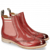 Bottines Amelie 77 Rich Red Perfo Loop Camo