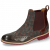 Bottines Amelie 5 Grigio Textile Retro Plum