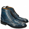 Bottines Matthew 7 Croco Mid Blue Rivets
