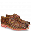 Derbies Brad 7 New Haring Bone Weave Wood Ruby