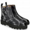 Bottines Susan 45 Navy Textile Camo Metallic Blue Loop Rivet