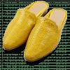 Mules Joolie 10 Little Woven Yellow LS Natural