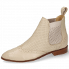 Bottines Jessy 4 Nappa Glove Cream Perfo Nude