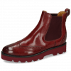 Bottines Selina 29 Vegas Burgundy Elastic Ribbed