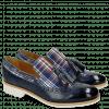 Mocassins Amelie 60 Textile Check Sky Blue Multi