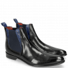 Bottines Toni 6 Black Electric Blue Elastic Navy