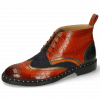 Bottines Sally 30 Crock Winter Orange Nappa Aztek Bronze Sheep Suede Navy