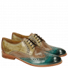Derbies Amelie 3 Sweet Water Perfo Powder Verde Chiaro Arancio