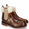 Bottines Amelie 63 Crock Wood Fur Lining Beige