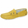 Mocassins Caroline 1 Goat Suede Yellow Dots