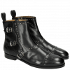 Bottines Susan 45 Black Rivets Buckle Nickel HRS