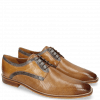 Derbies Alex 10 Berlin Perfo Nougat Moroccan Blue Sand