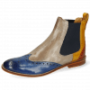 Bottines Amelie 5 Venice Neptune Blue Yellow Arancio Perfo Digital