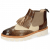 Bottines Selina 5 Imola Chestnut Oily Suede Ivory Mid Brown