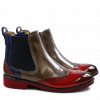 Bottines Amelie 5 Crust Rich Red Smoke Navy Light Purple Elastic Navy Rook D Bordo