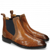 Bottines Logan 2 Venice Crock Wood Suede Pattini Cognac