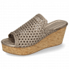 Mules Hanna 57 Woven Pewter Cork