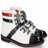Bottines Amelie 64 Navy Milled White Ruby Lining Full Fur