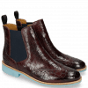 Bottines Selina 6 Crock Burgundy Elastic Navy