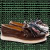 Mocassins Bea 4 Crust Dark Brown Tassel Multi XL Malden White Rubber Black