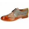 Derbies Amelie 3 Arancio Perfo Make Up Satellite Ocra