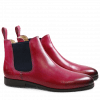 Bottines Susan 10 Crust Dark Pink Elastic Navy HRS