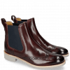 Bottines Amelie 5 Burgundy Elastic Navy