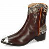 Bottines May 6 Mogano Snake Ivory Orange