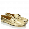 Mocassins Ally 1 Metalic Scale Gold